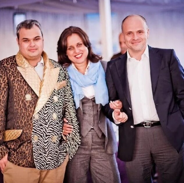Михаил Радуцкий с семьей