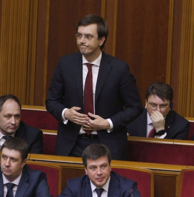 Міністр інфраструктури Володимир Омелян під час призначення Верховною Радою на посаду, 2016 р.