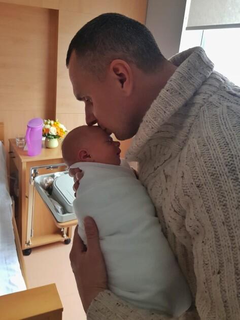 Олег Сенцов з дочкою