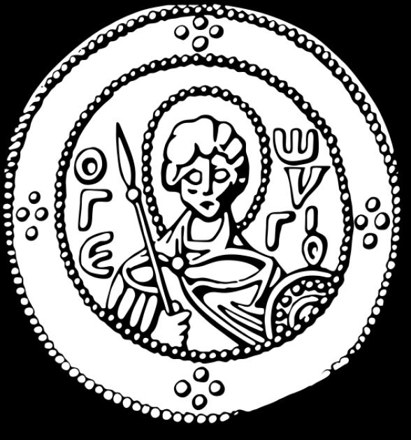 Портрет князя Ярослава Мудрого на  серебряной монете