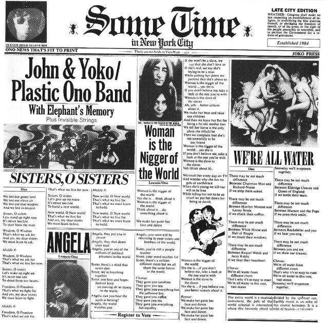 Обложка пластинки Some Time in New York City / Wikipedia