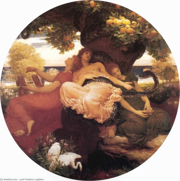 «В саду Гесперид», 1892 г. Художник Фредерик Лейтон