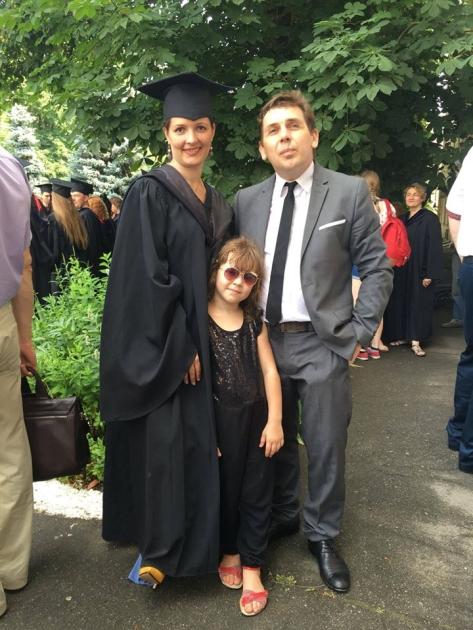 Зоряна Скалецкая с экс-супругом Александром Черненко и дочерью