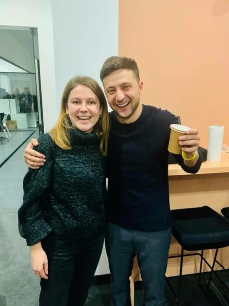 Марина Бардіна та Володимир Зеленський / Facebook