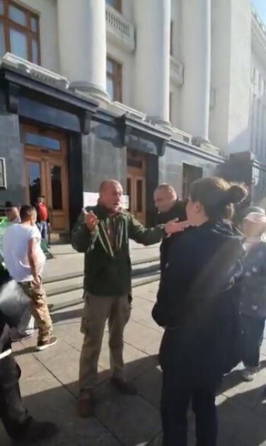 Конфлікт ветеранів АТО і Анни Коваленко/Facebook Андрія Чудовского