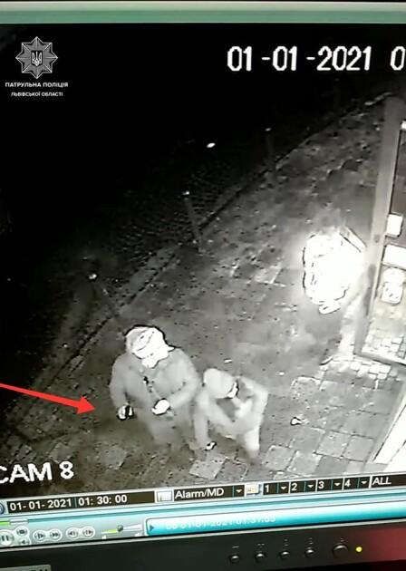 Фрагмент відео з камер спостереження