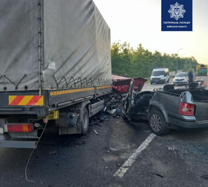 Водитель легкового авто погиб на месте
