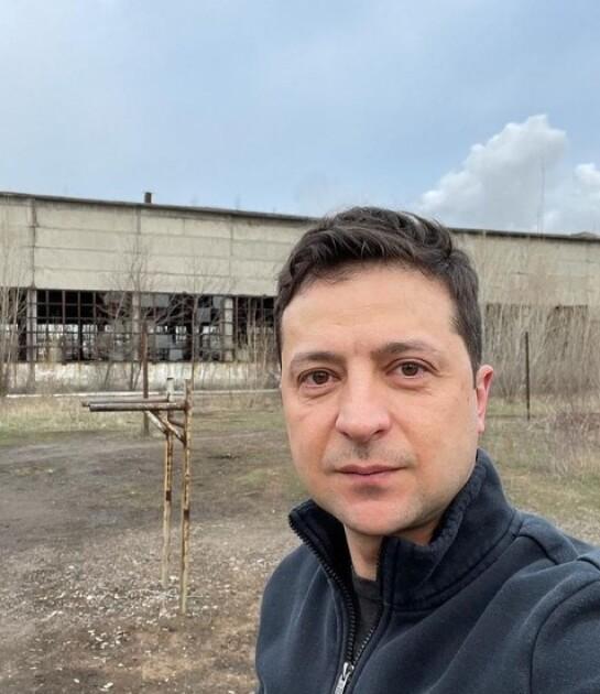 Владимир Зеленский в авдеевской промзоне