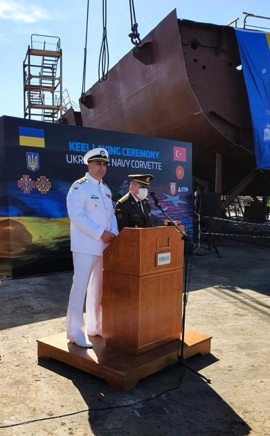 Церемонія закладки нового корвета типу ADA для ВМС ЗСУ