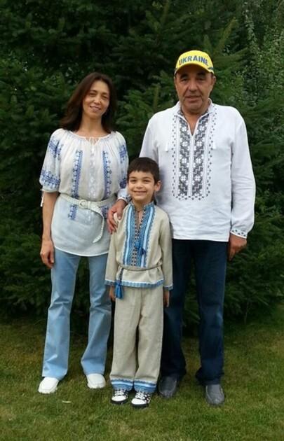 Вадим Рабінович з дружиною Іриною і сином