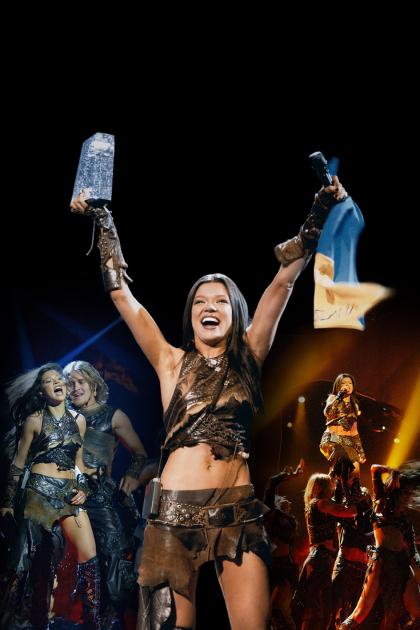 """Руслана з призом конкурсу """"Євробачення"""", 2004 р"""