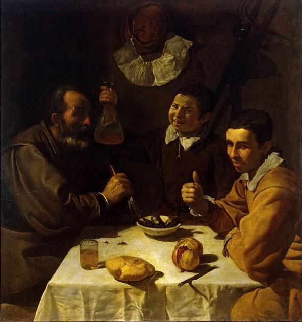 люди в трактирі їдять манну кашу