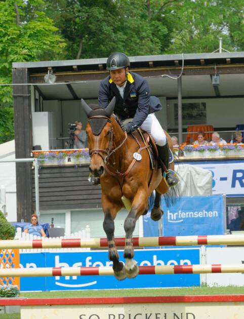 Александр Онищенко на Международном конном турнире в Висбадене, 2015 год/Michael Kramer