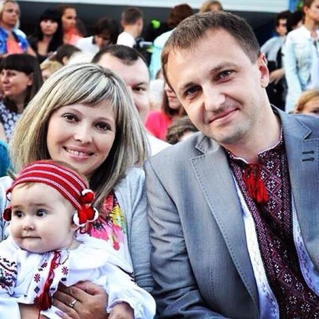 Тарас Креминь с семьей