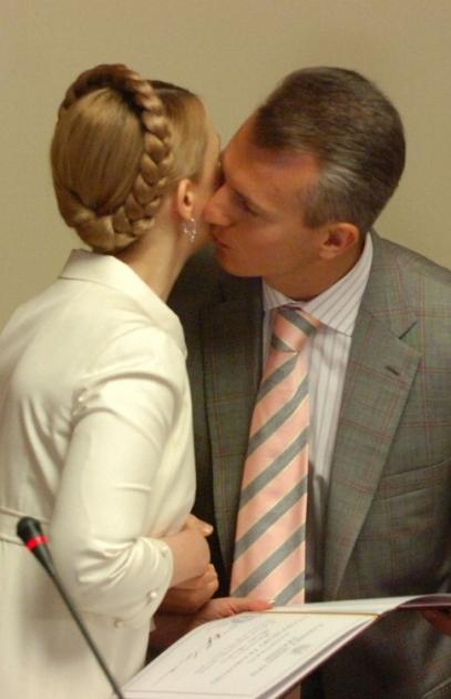 Премьер-министр Украины Юлия Тимошенко и председатель Государственной таможенной службы Валерий Хорошковский