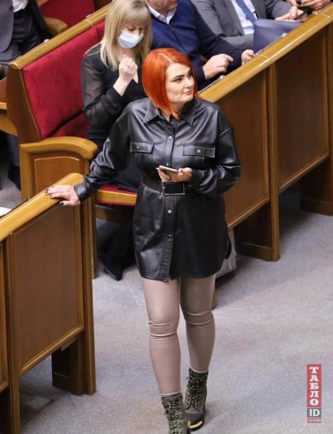 Людмила Буймистер в кожаном наряде/tabloid.com.ua
