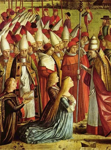 «Легенда про св. Урсулу: Зустріч з татом Киріаком» - одна з 9 картин знаменитого «урсульського циклу», написаного Вітторе Карпаччо в 1490-1495 рр.