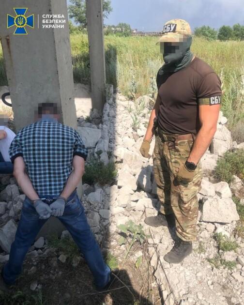 Затримання диверсанта на Луганщині