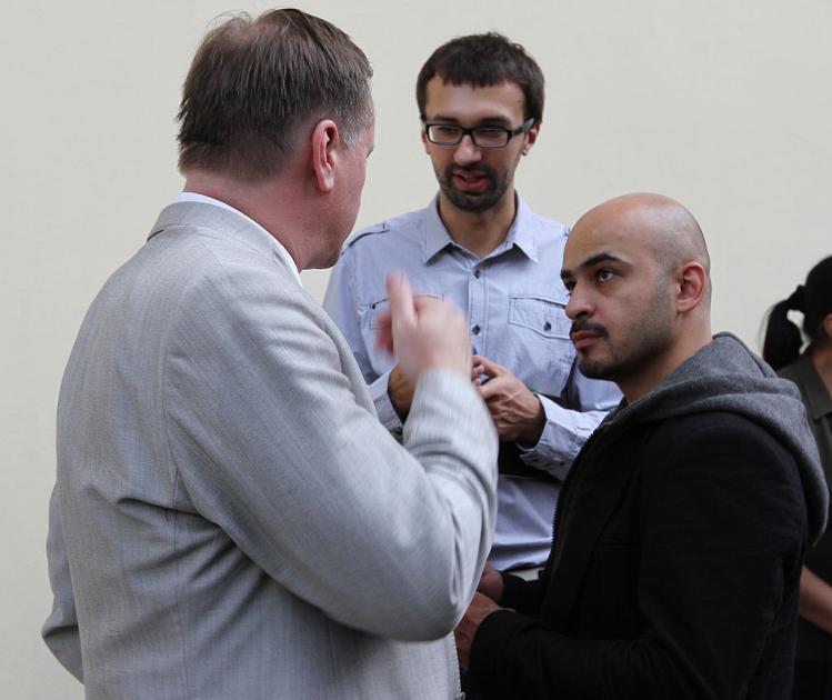 Мустафа Найєм з Сергієм Лещенком і Тарасом Чорноволом, 2011 р