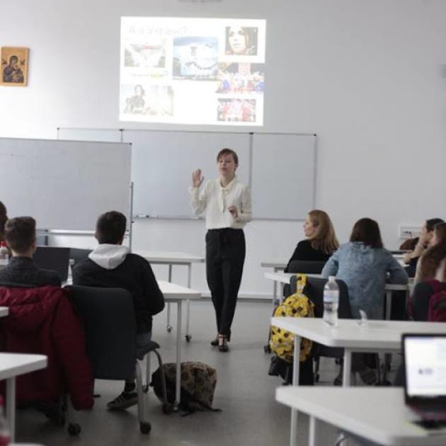 Єлизавета Ясько в Українському Католицькому Університеті / скріншот
