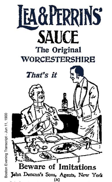 Так на рубежі XIX і XX століть виглядала реклама «Ворчестера» від Лі і Перрінс